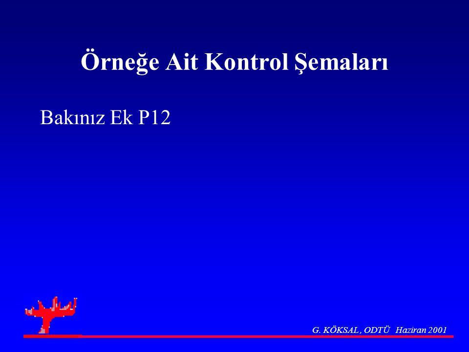Örneğe Ait Kontrol Şemaları Bakınız Ek P12 G. KÖKSAL, ODTÜ Haziran 2001