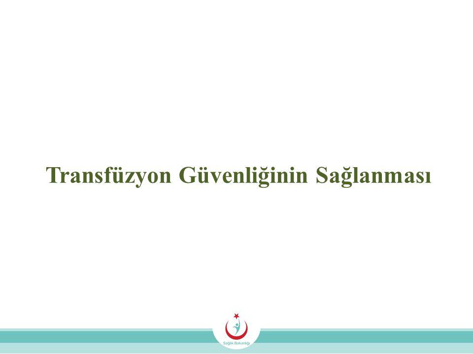 Transfüzyon Güvenliğinin Sağlanması