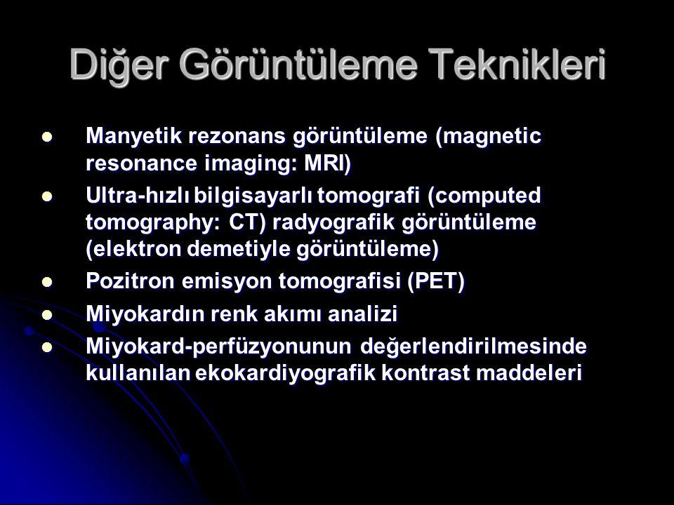 Diğer Görüntüleme Teknikleri Manyetik rezonans görüntüleme (magnetic resonance imaging: MRI) Manyetik rezonans görüntüleme (magnetic resonance imaging