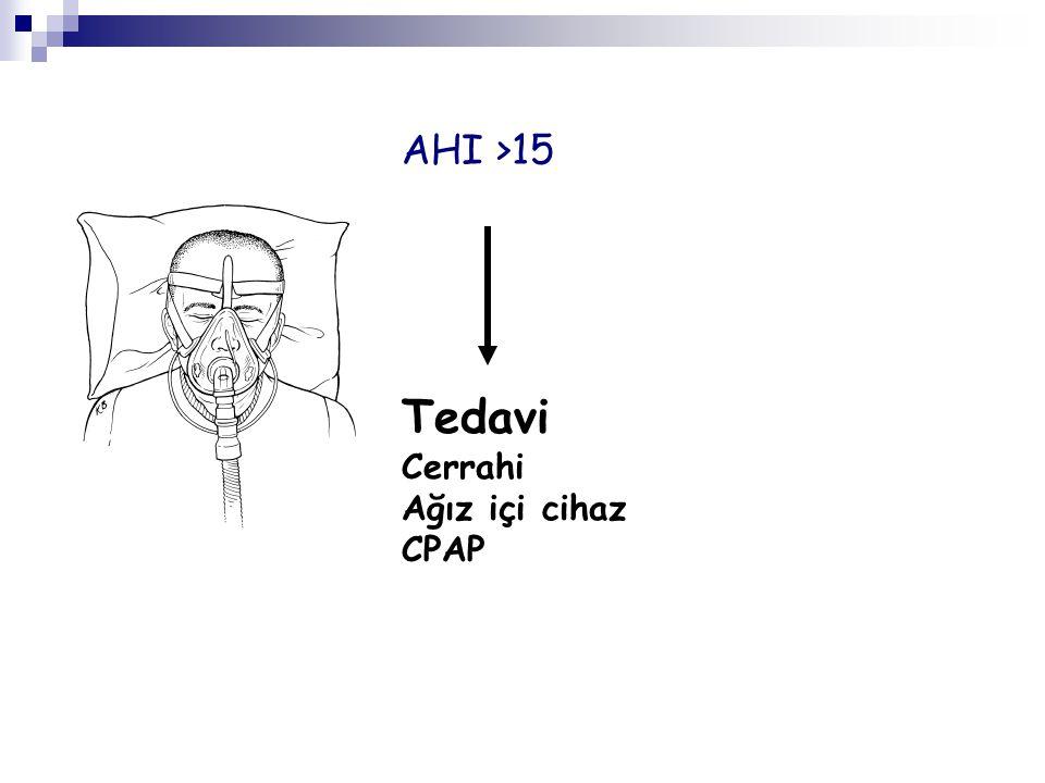 Cerrahi Ağız içi cihaz CPAP AHI >15