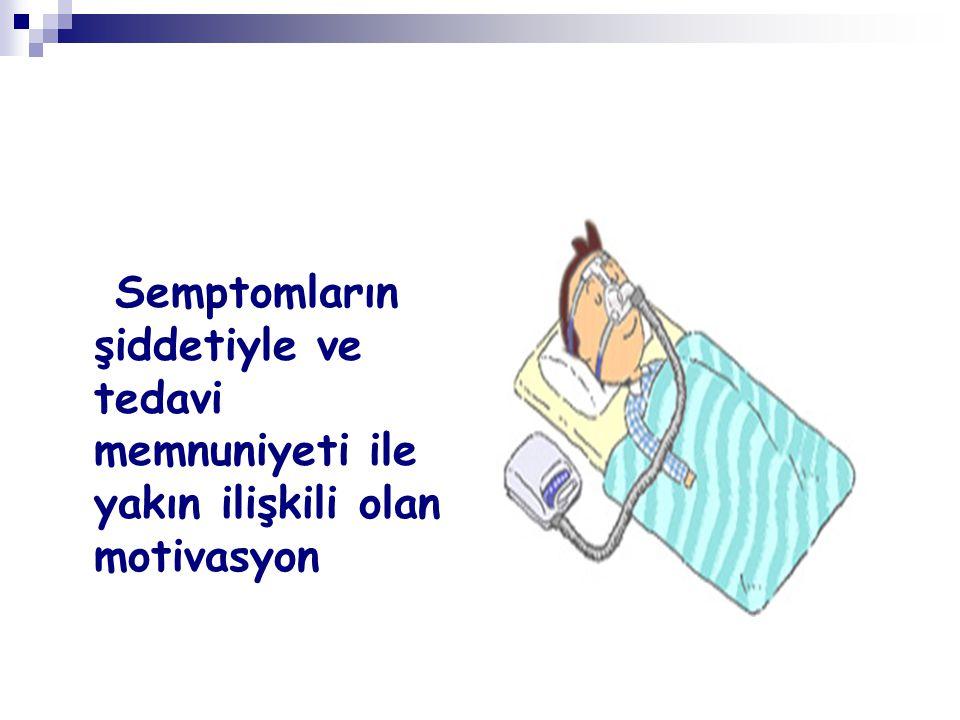 Semptomların şiddetiyle ve tedavi memnuniyeti ile yakın ilişkili olan motivasyon