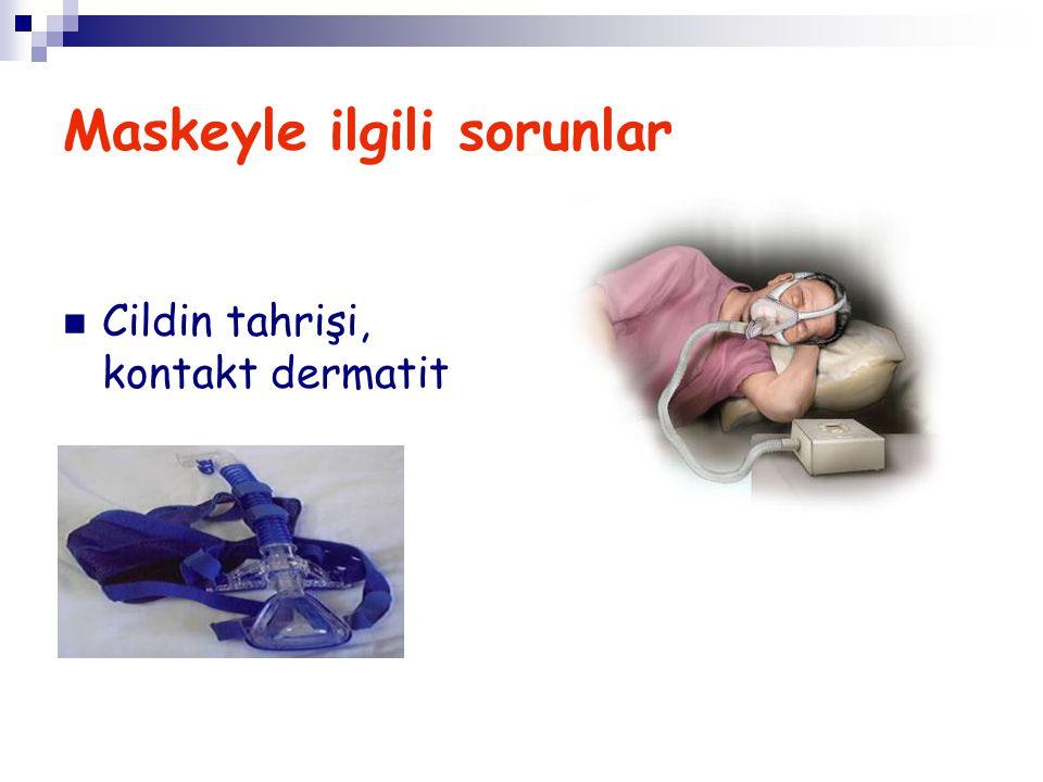 Maskeyle ilgili sorunlar Cildin tahrişi, kontakt dermatit