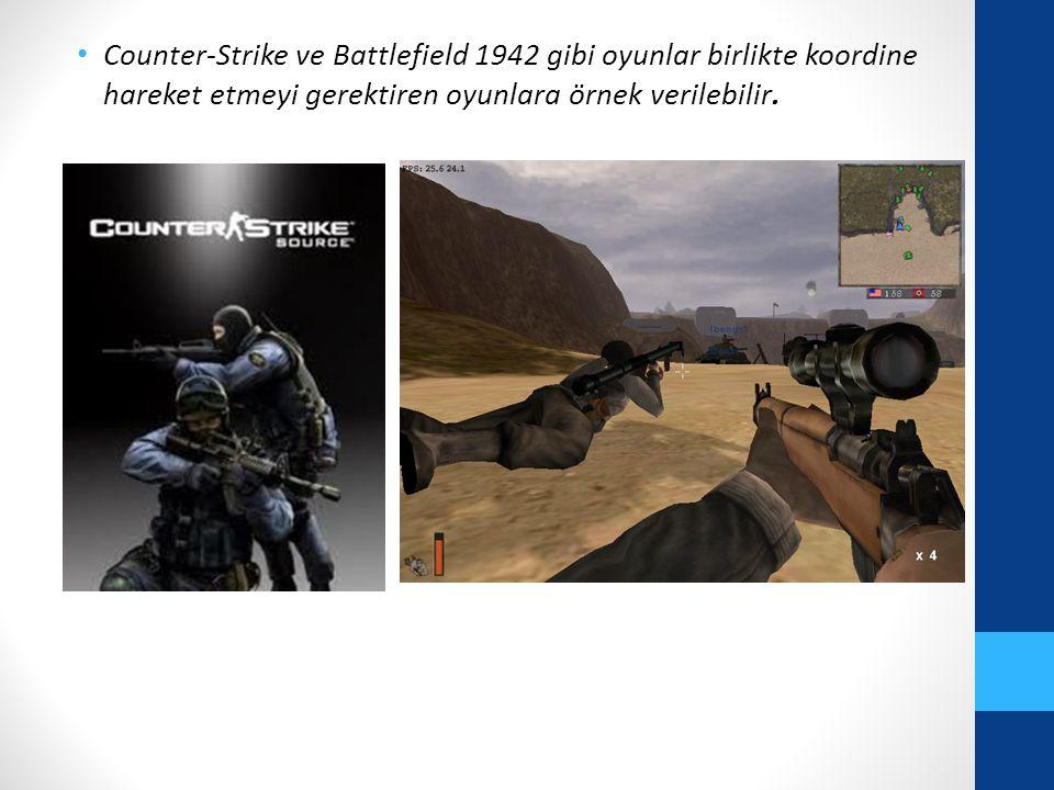 Counter-Strike ve Battlefield 1942 gibi oyunlar birlikte koordine hareket etmeyi gerektiren oyunlara örnek verilebilir.