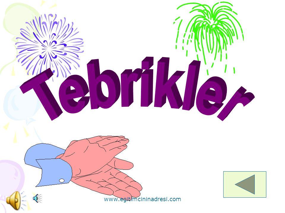 * Aşağıdaki boncuklardan hangisi mavidir? www.egitimcininadresi.com