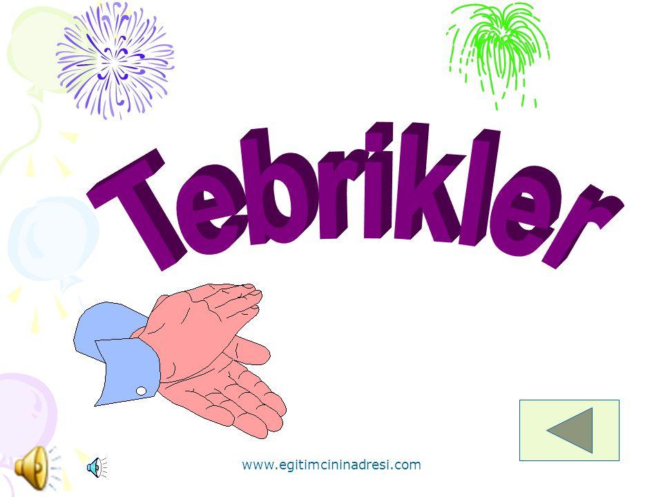 * Yukarıdaki şekillerden hangisinde mor renk çoğunluktadır? www.egitimcininadresi.com