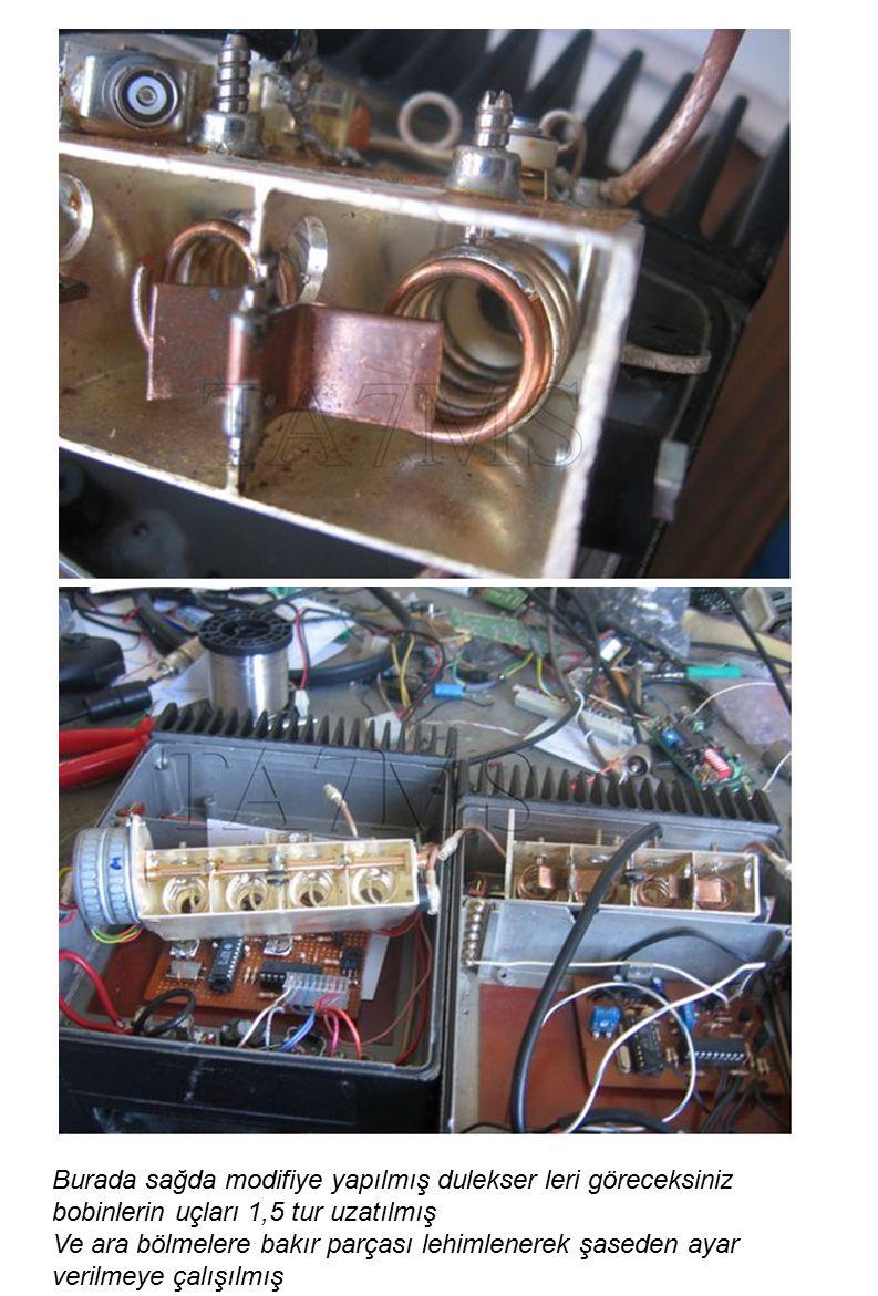 2 adet 10pf kullanılmış 10mf 50v ve 470 ohm kullanılmış
