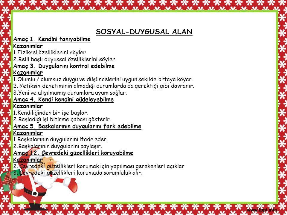 SOSYAL-DUYGUSAL ALAN Amaç 6.