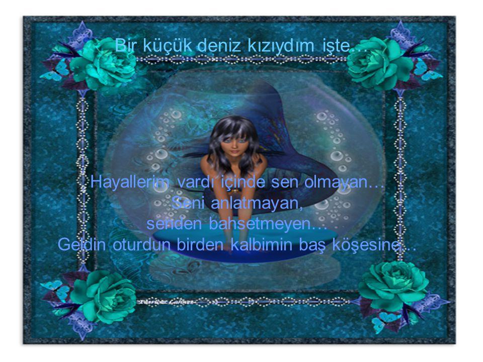 Bir küçük deniz kızıydım işte… Hayallerim vardı içinde sen olmayan… Seni anlatmayan, senden bahsetmeyen… Geldin oturdun birden kalbimin baş köşesine…