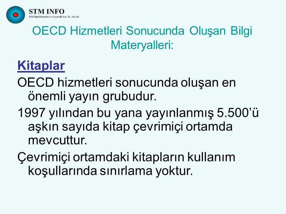 OECD Hizmetleri Sonucunda Oluşan Bilgi Materyalleri: Toplantı Bildirileri OECD, kuruluşundan bu yana bütün üye ülkelerde ve ilgili diğer ülkelerde hükümet ve sivil toplum kuruluşları ile ortak toplantılar düzenlemektedir.