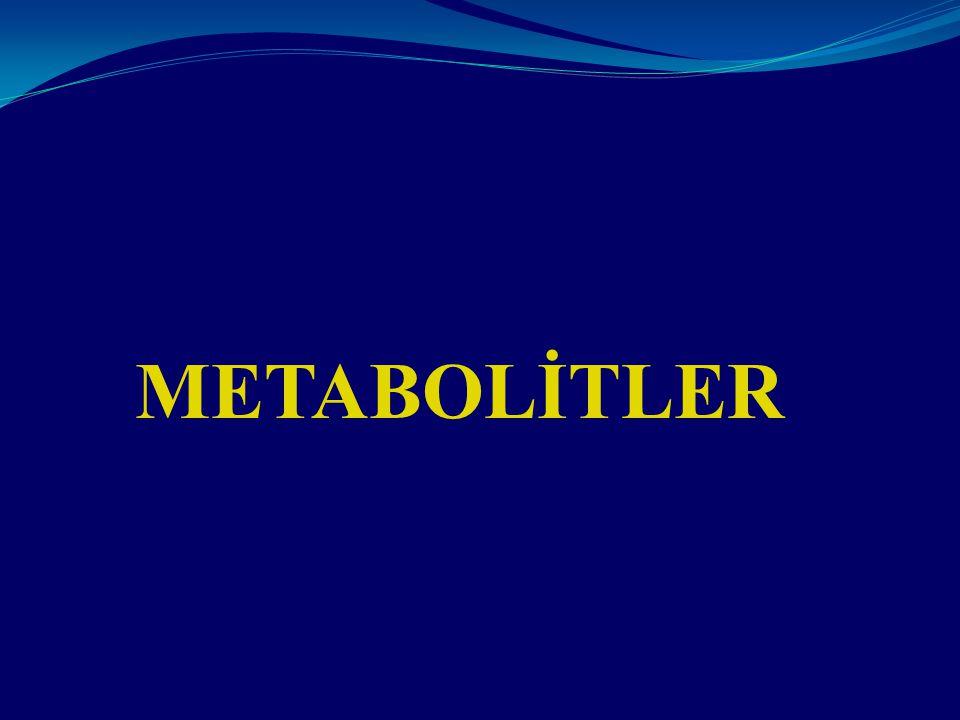 METABOLİTLER