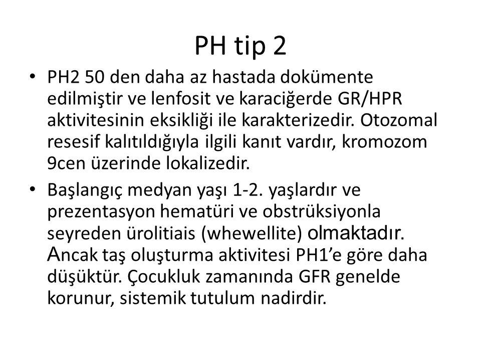 PH tip 2 PH2 50 den daha az hastada dokümente edilmiştir ve lenfosit ve karaciğerde GR/HPR aktivitesinin eksikliği ile karakterizedir. Otozomal resesi