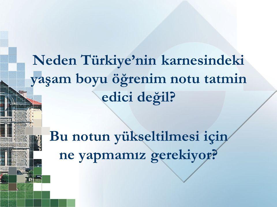 Neden Türkiye'nin karnesindeki yaşam boyu öğrenim notu tatmin edici değil.