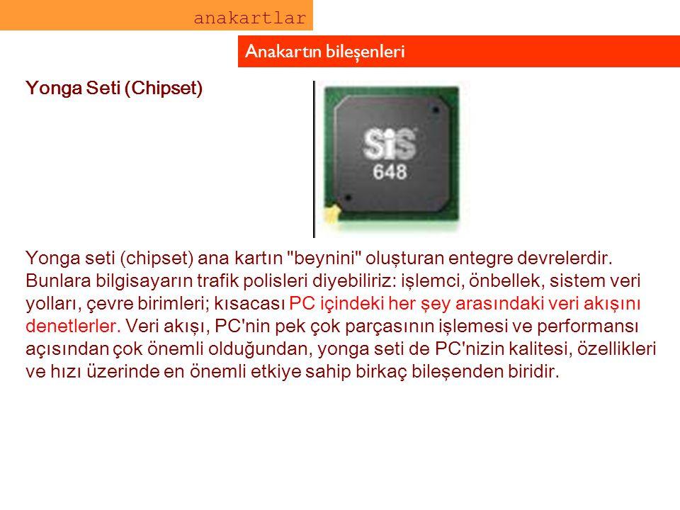 Yonga Seti (Chipset) Yonga seti (chipset) ana kartın