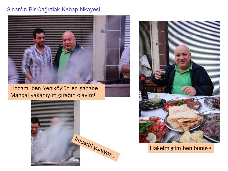 Sinan'ın Bir Cağırtlak Kebap hikayesi... Hocam, ben Yeniköy'ün en şahane Mangal yakanıyım,çırağın olayım! İmdattt! yanıyos... Haketmiştim ben bunu