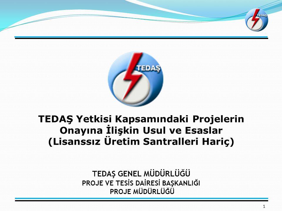 Projelerin Hazırlanması 12 Projeler, 30.12.2014 tarih ve 29221 sayılı Resmi Gazete'de (mükerrer) yayımlanan Elektrik Tesisleri Proje Yönetmeliğine uygun olarak hazırlanacaktır..