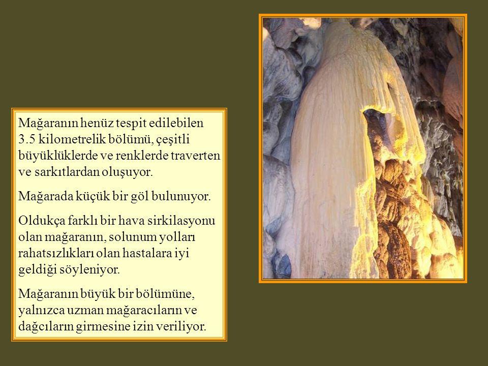 İnaltı Mağarası; İlçe merkezinin 50 km güneyinde, İnaltı Köyü yakınında, Akgöl e 6km uzaklıkta ve denizden 1070 metre yüksekliktedir.