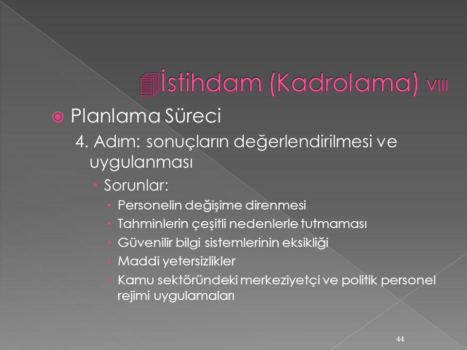  Planlama Süreci 4.