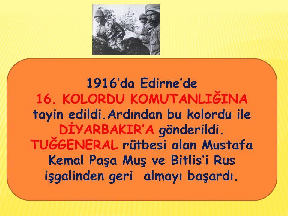 1916'da Edirne'de 16.