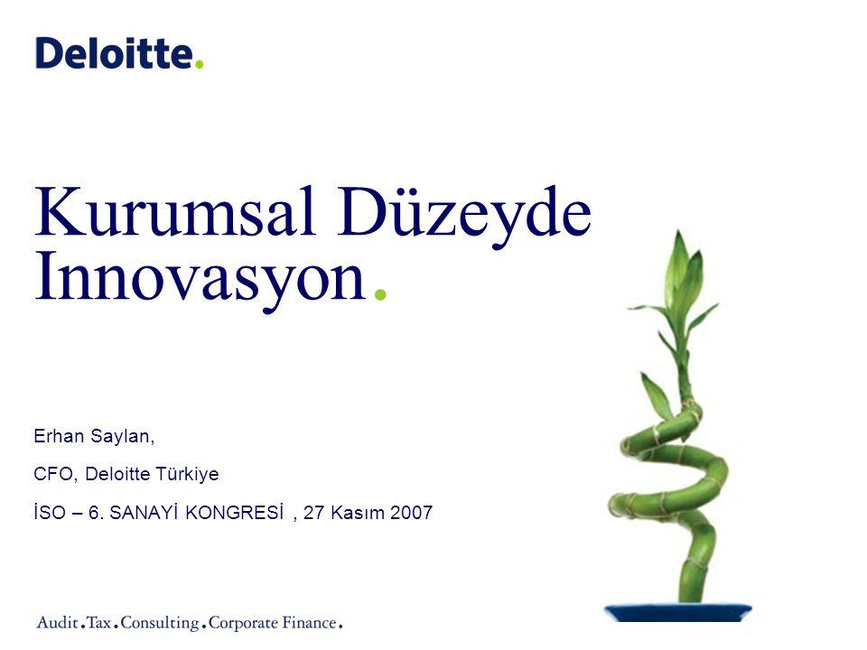 Kurumsal Düzeyde Innovasyon.Erhan Saylan, CFO, Deloitte Türkiye İSO – 6.