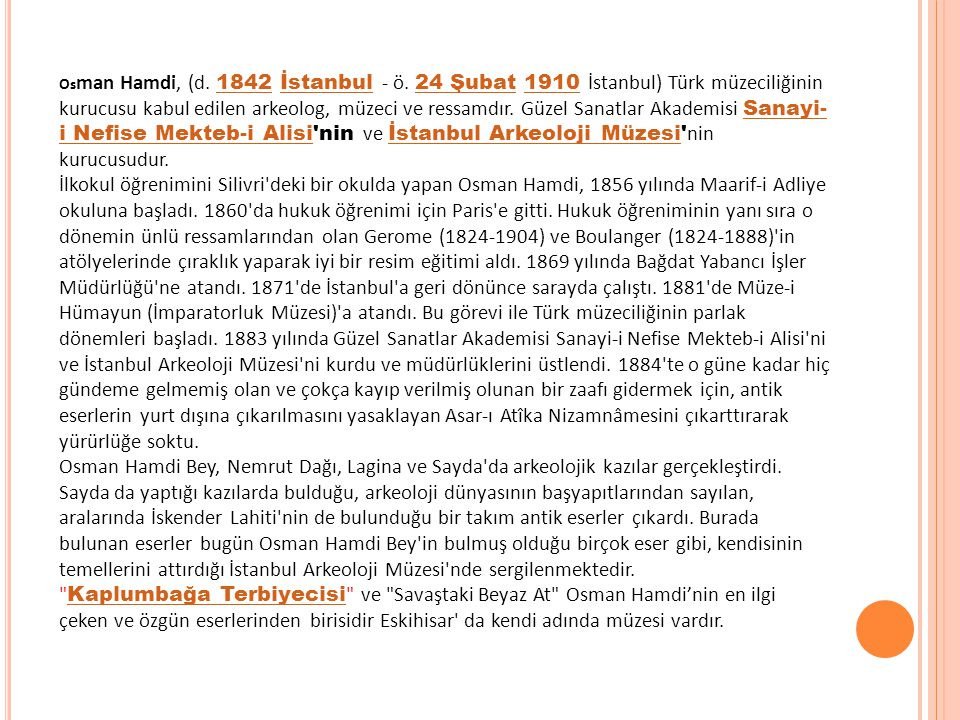 Os man Hamdi, (d.1842 İstanbul - ö.