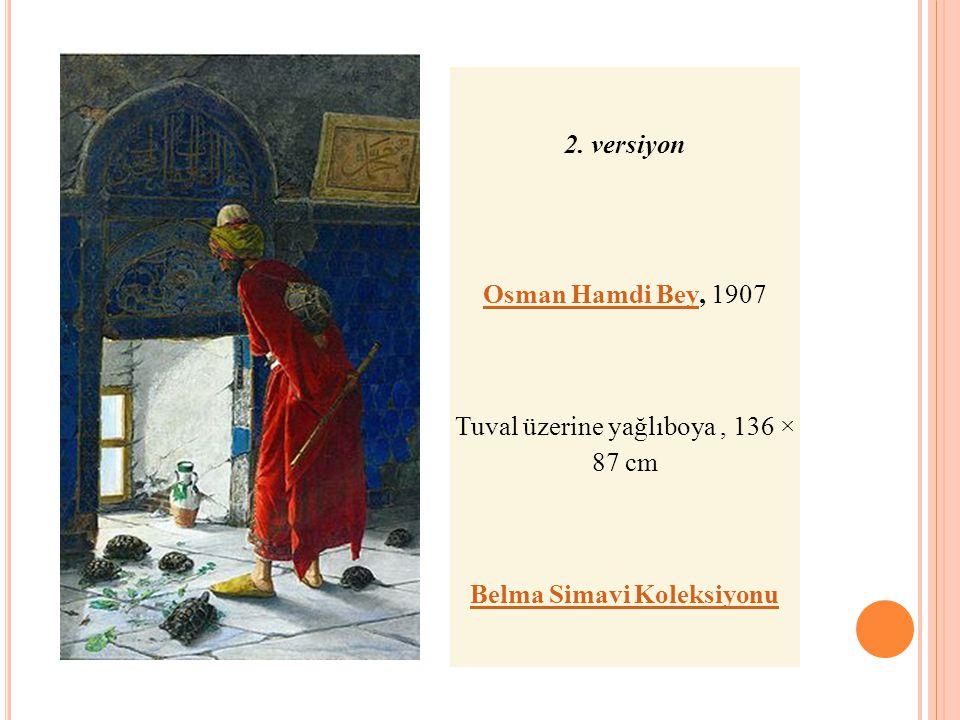 2. versiyon Osman Hamdi BeyOsman Hamdi Bey, 1907 Tuval üzerine yağlıboya, 136 × 87 cm Belma Simavi Koleksiyonu