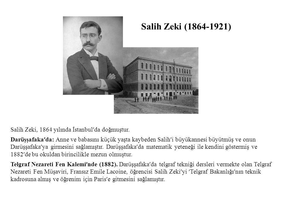 Salih Zeki, 1864 yılında İstanbul ' da doğmuştur.