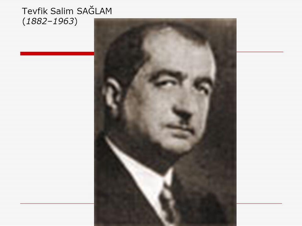 Dönemin Önde Gelen Bazı Hekimleri  Akil Muhtar ÖZDEN (1877–1949) Türkiye'de modern ve deneysel farmakolojinin ve farmakodinaminin öncüsü kabul edilir.