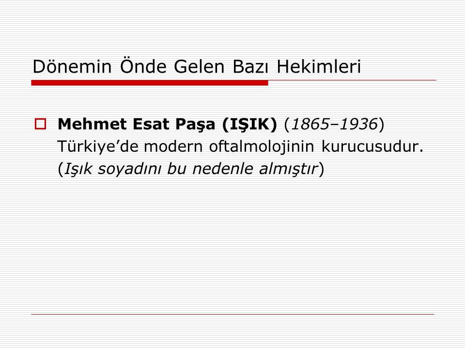 Mehmet Esat Paşa (IŞIK) (1865–1936)