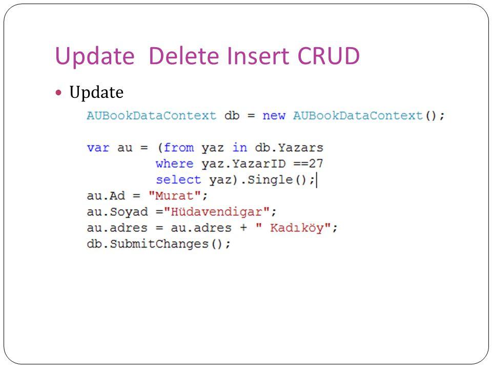 Update Delete Insert CRUD Update