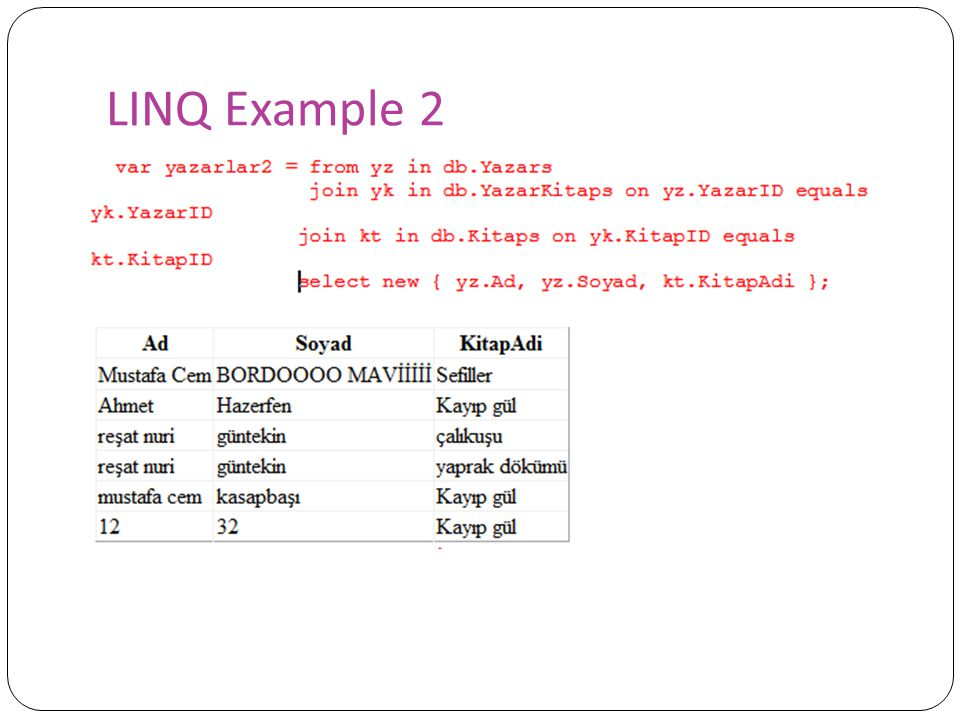 LINQ Example 2