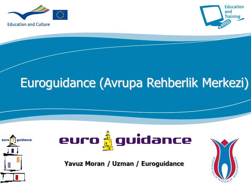 ecdc.europa.eu Euroguidance (Avrupa Rehberlik Merkezi) Yavuz Moran / Uzman / Euroguidance