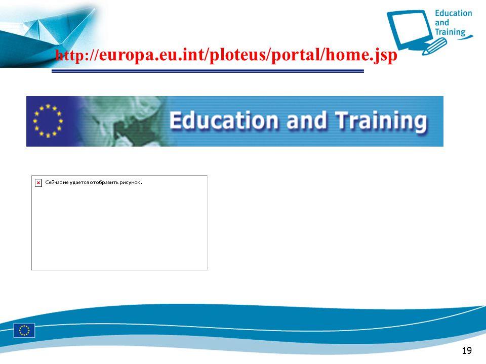 19 http:// europa.eu.int/ploteus/portal/home.jsp
