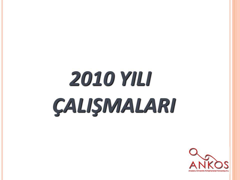 2010 YILI ÇALIŞMALARI