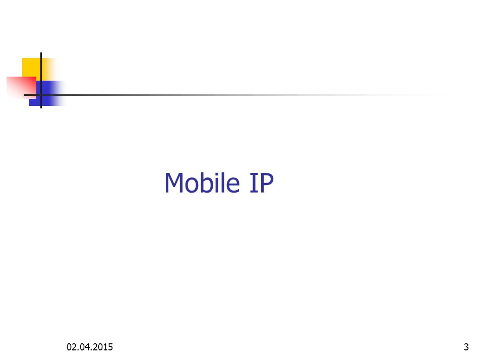 Mobile IP, Voice over IP