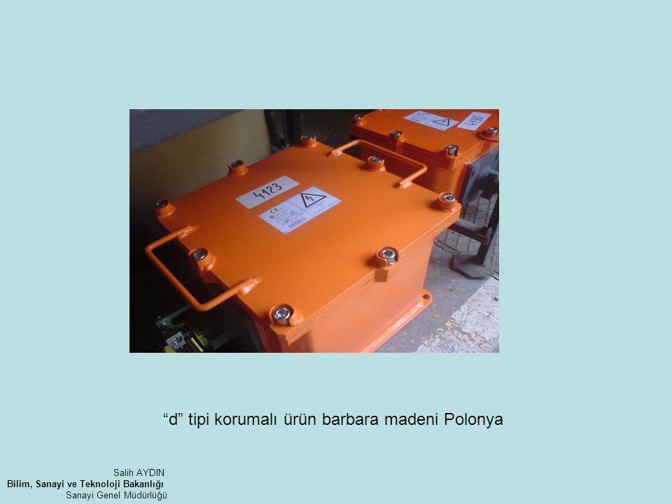 """""""d"""" tipi korumalı ürün barbara madeni Polonya Salih AYDIN Bilim, Sanayi ve Teknoloji Bakanlığı Sanayi Genel Müdürlüğü"""