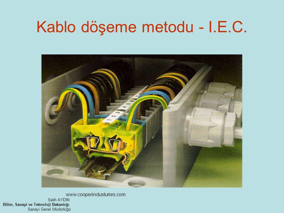 Kablo döşeme metodu - I.E.C. www.cooperindusturies.com Salih AYDIN Bilim, Sanayi ve Teknoloji Bakanlığı Sanayi Genel Müdürlüğü