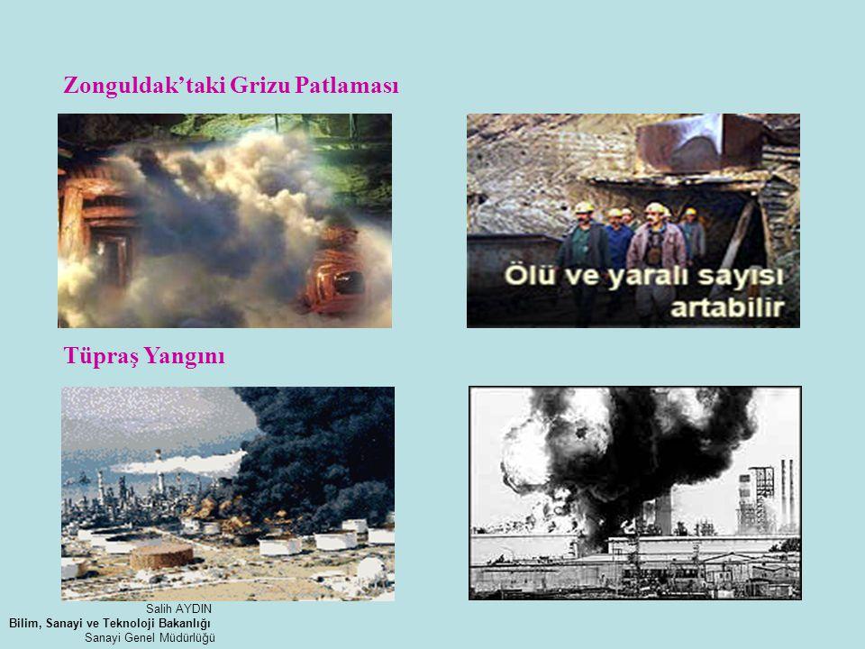 Zonguldak'taki Grizu Patlaması Tüpraş Yangını Salih AYDIN Bilim, Sanayi ve Teknoloji Bakanlığı Sanayi Genel Müdürlüğü