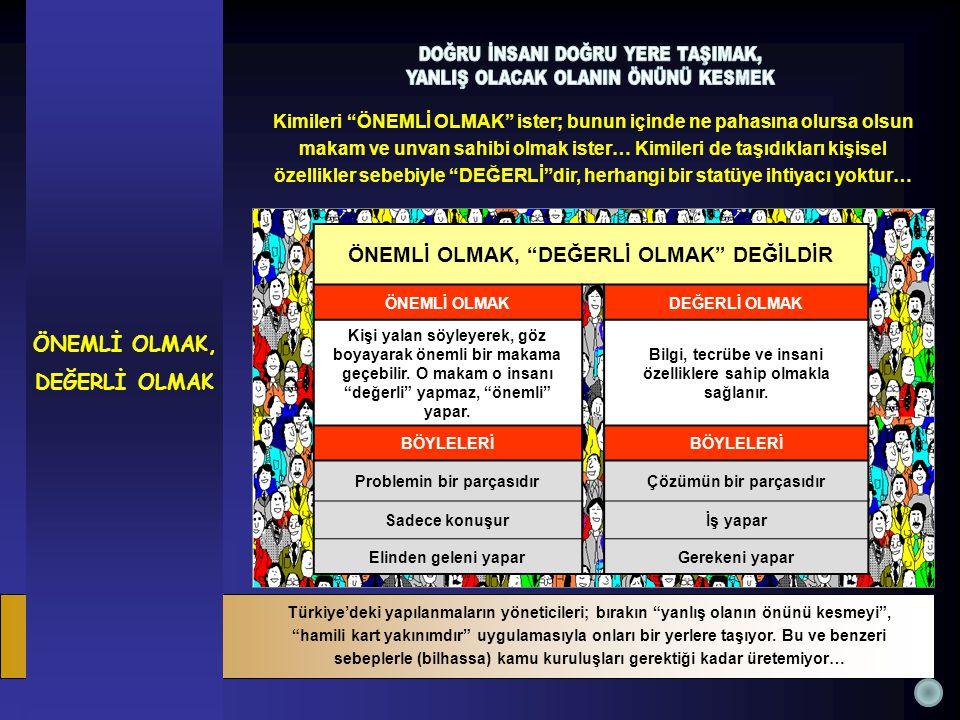 Türkiye'deki yapılanmaların yöneticileri; bırakın yanlış olanın önünü kesmeyi , hamili kart yakınımdır uygulamasıyla onları bir yerlere taşıyor.