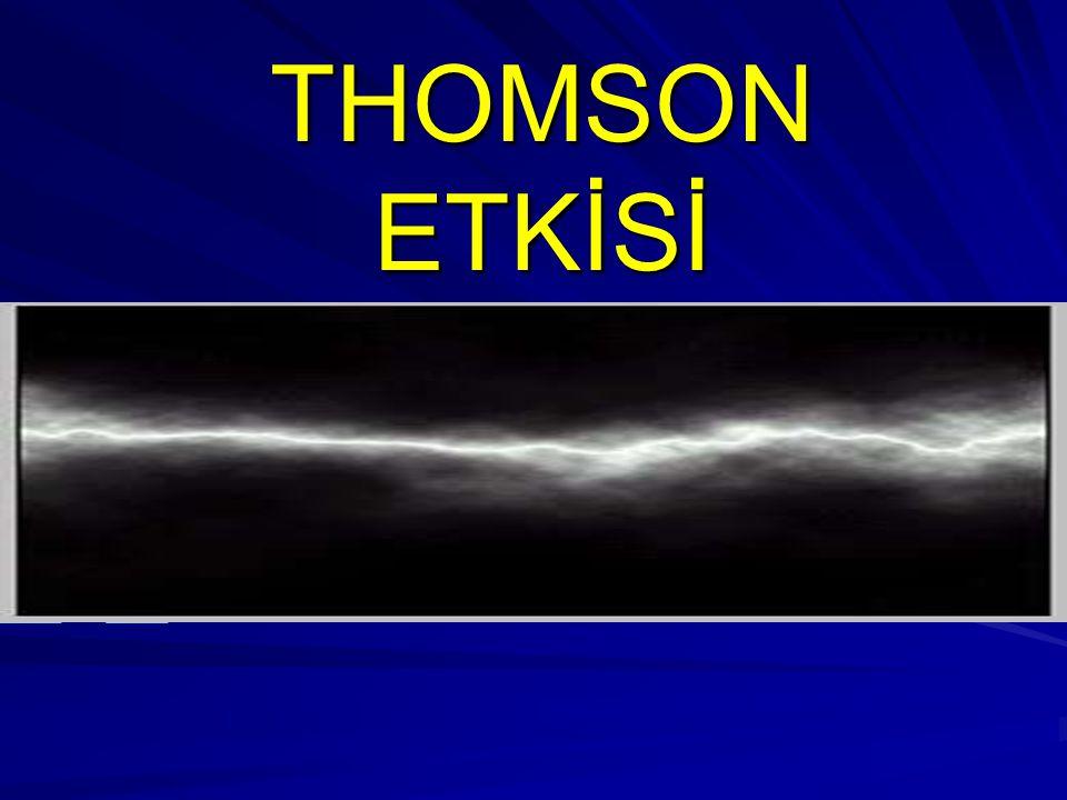TARİHÇE TANIM TANIM KONU İÇERİĞİ THOMSON ETKİSİNİN BAĞLI OLDUĞU SEBEPLER Sunum başlıkları