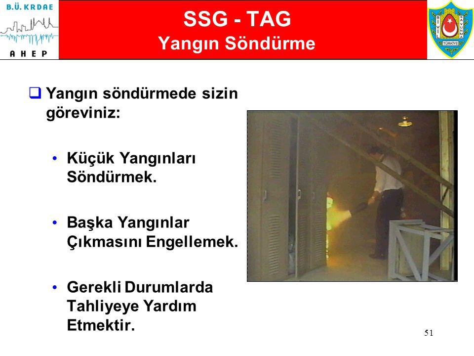 50 SSG-TAG: Ağır Arama - Kurtarma Ekipleri Geldikten Sonra Yardıma Devam Eder  Potansiyel Tehlikelerin azaltılmasına için çalışmaya devam eder.  Bil