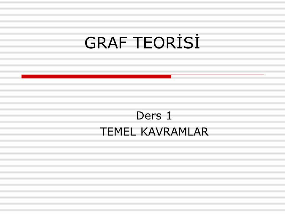 GRAF TEORİSİ Ders 1 TEMEL KAVRAMLAR