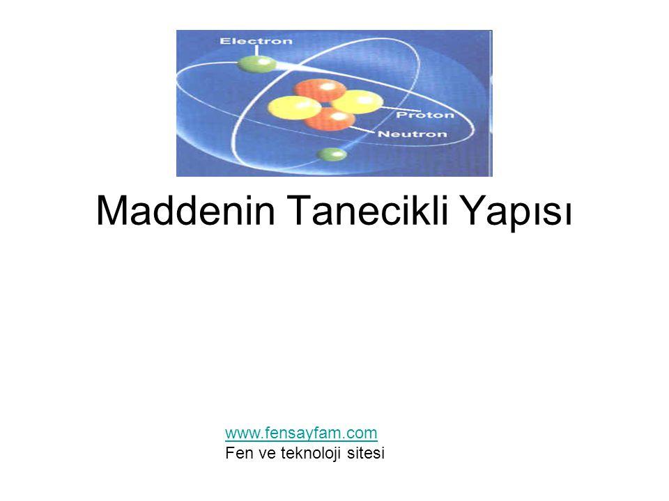 Maddenin Tanecikli Yapısı www.fensayfam.com Fen ve teknoloji sitesi