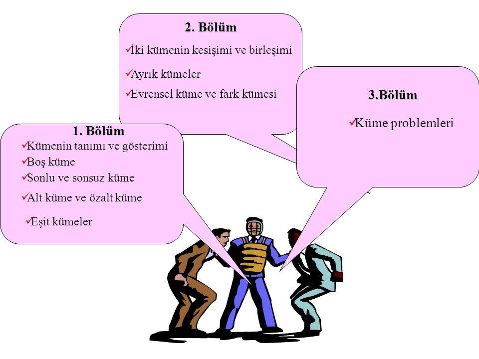 3. Boş küme her kümenin bir alt kümesidir.