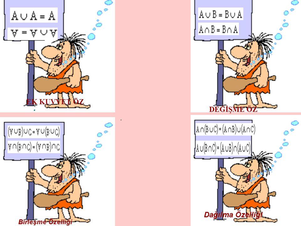 simetrik farkı SİMETRİK FARK : A ve B herhangi iki küme olarak üzere, A – B ile B –A nın birleşimine A ile B ' nin simetrik farkı denir ve ile gösterilir.