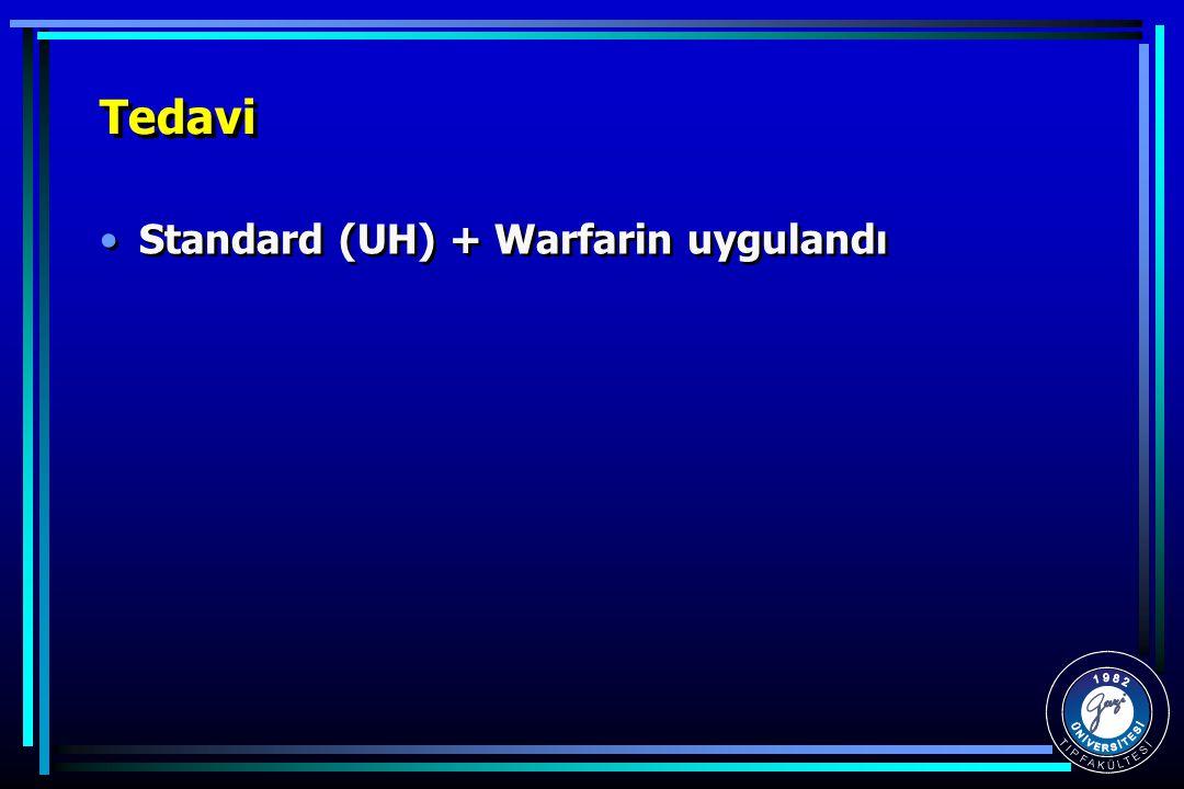 Tedavi Standard (UH) + Warfarin uygulandı