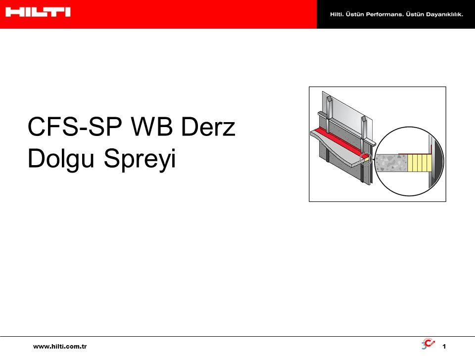 1 www.hilti.com.tr CFS-SP WB Derz Dolgu Spreyi