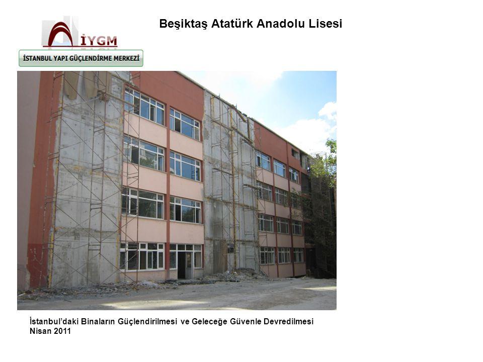 İstanbul'daki Binaların Güçlendirilmesi ve Geleceğe Güvenle Devredilmesi Nisan 2011 Beşiktaş Atatürk Anadolu Lisesi