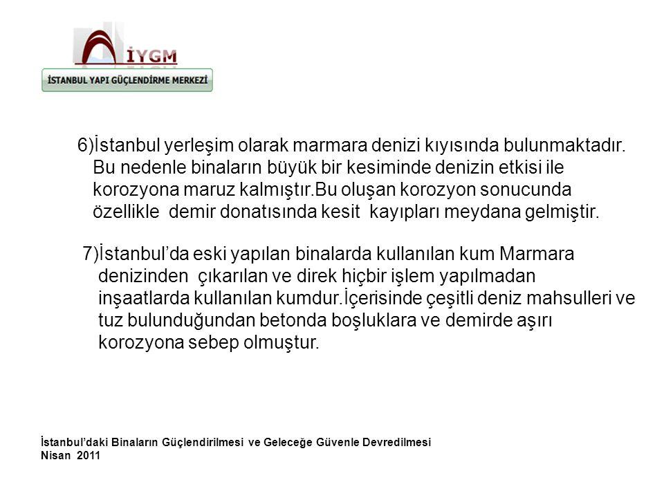 6)İstanbul yerleşim olarak marmara denizi kıyısında bulunmaktadır.