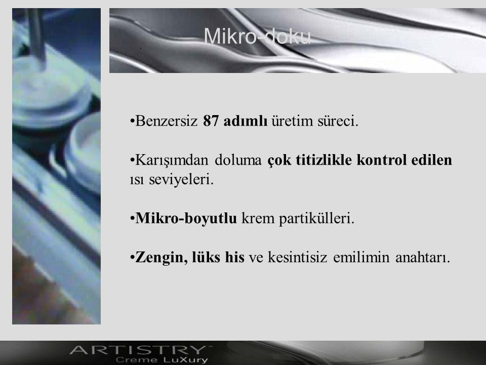 Mikro-doku Benzersiz 87 adımlı üretim süreci.