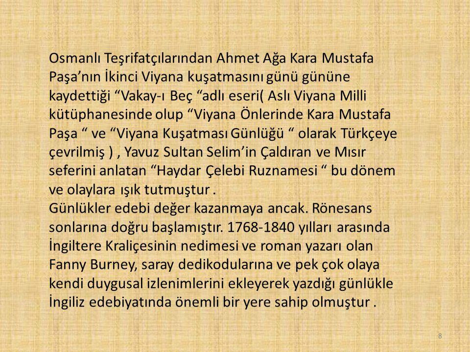 """Osmanlı Teşrifatçılarından Ahmet Ağa Kara Mustafa Paşa'nın İkinci Viyana kuşatmasını günü gününe kaydettiği """"Vakay-ı Beç """"adlı eseri( Aslı Viyana Mill"""